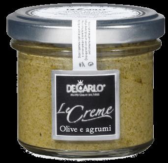 OLIVE VERDI E AGRUMI Le Creme Paté Oliven & Zitrusfrüchte, De Carlo